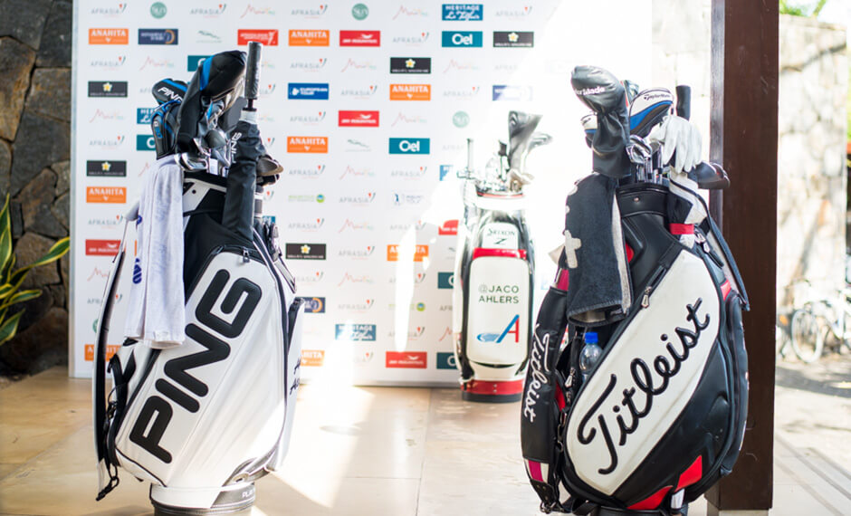 AfrAsia Bank Mauritius Open - Golf Bags and Sponsors