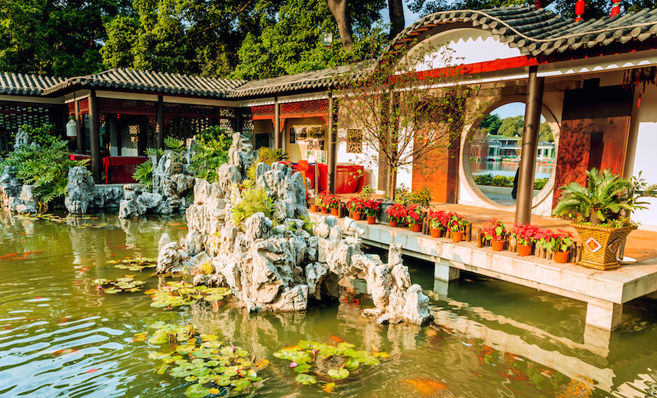 Experience the traditional Pavillion Gardens in Guangzhou with new flights to China