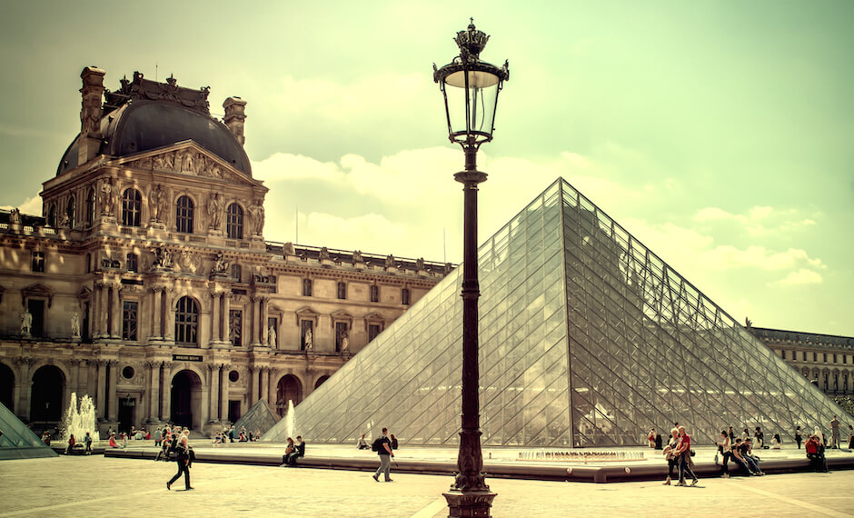The Louvre Museum is amongst the largest museums in the world.