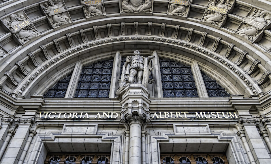 The V and A Museum in London is a great tourist attraction