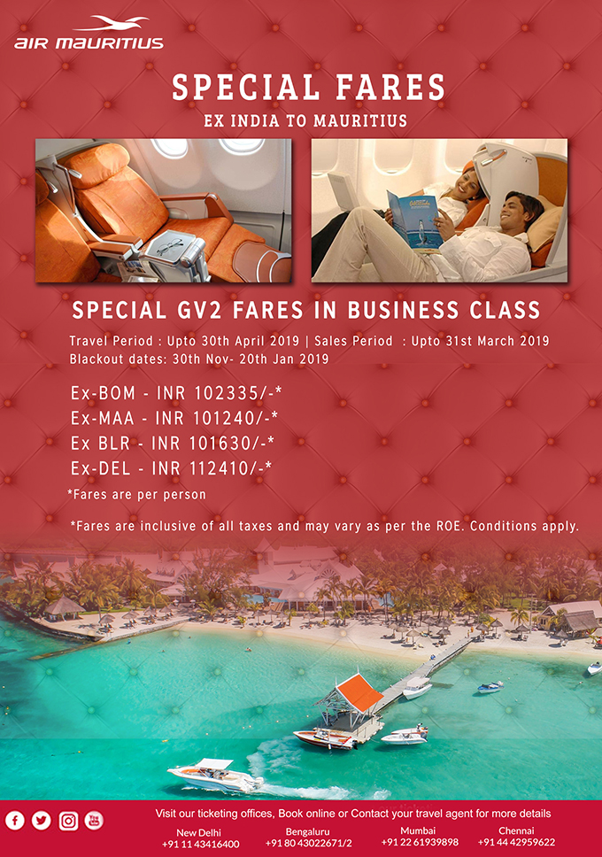 Flights India To Mauritius